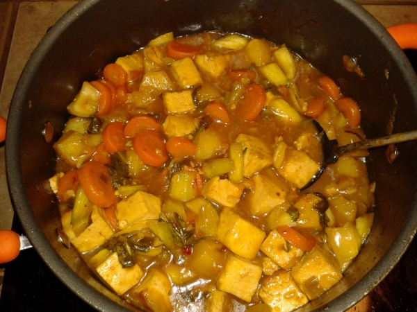full pot of sweet and sour goodness